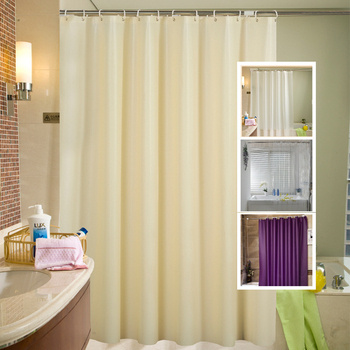 Solid Color Waterproof PEVA Bathing Shower Curtain Bathroom Curtain With Hook Environmental Toilet Shower Curtain Home Decor D25