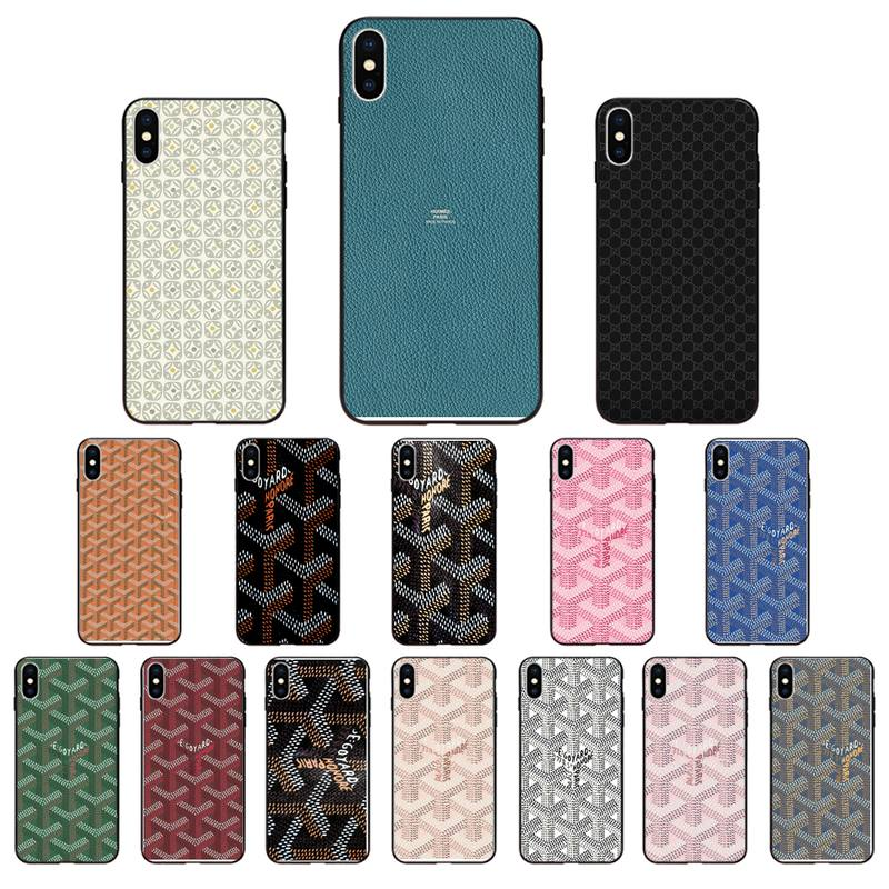 Goyard Design Colourful Style Phone Case Luxury Cover For Iphone 8 Plus 8plus Black Soft Mobile Phone Accessories