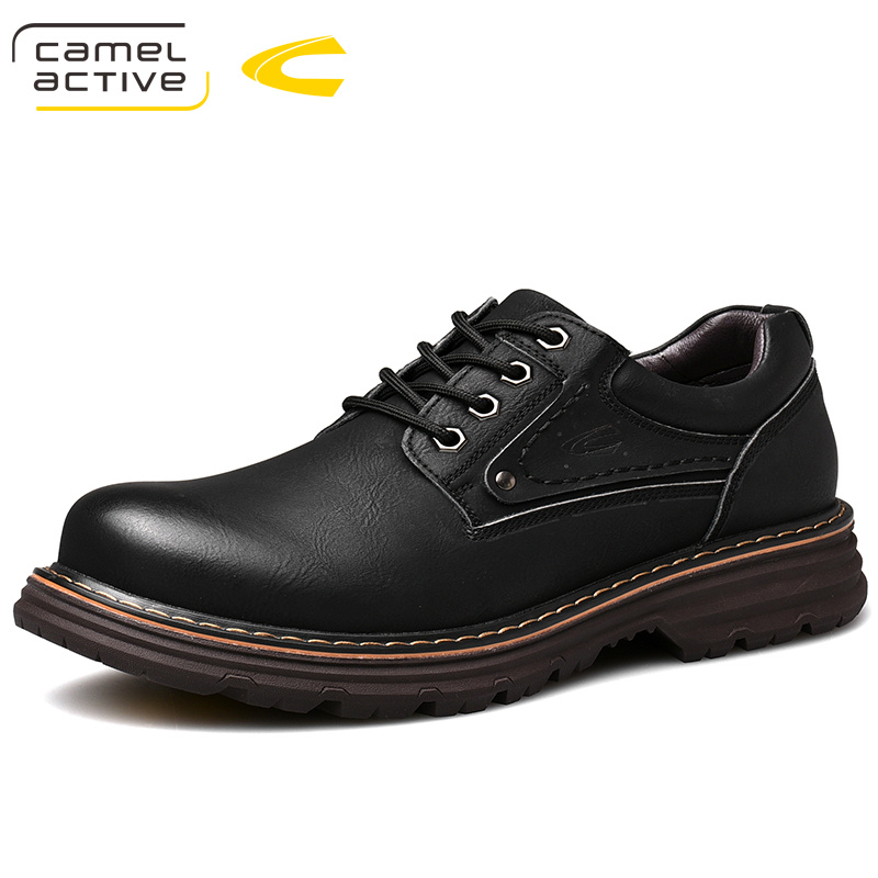 Spring Leather Casual Leather Shoes Men's Shoes British Big Head Shoes Men's Antiskid Martin Shoes