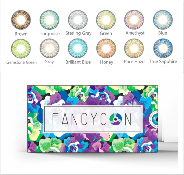 [FANCY TONE] 1 Pair(2 Pcs) 3 Tone Series Colored Contact Lenses For Eyes Colorblend Colored Eye Lenses Color Contacts