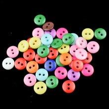 Полимерные пуговицы 6 мм 2 отверстия материалы для рукоделия шитье красочные круглые диаметр 6 мм DIY швейная одежда шляпы Декор Аксессуары