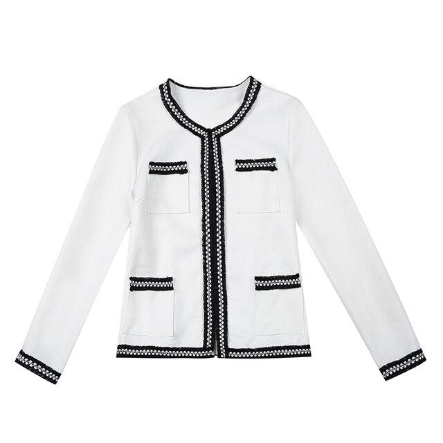 Women's Jackets 2021 Fashion  Autumn Jacket Women Long Sleeve White Coat Women Jacekts Coats And Jackets Women B888 5