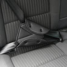 Pas bezpieczeństwa do samochodu solidny regulowany trójkąt do fotelika podkładka pod pas klipsy ochrona dziecka samochód stylizacji samochodów