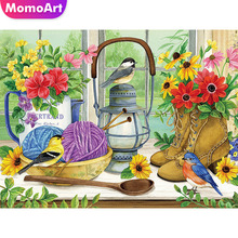 MomoArt DIY Diamond Painting Full Square Drill Flowers Diamond Embroidery Scenic Cross Stitch Gift Home Decoration momoart 5d full drill square diamond painting flowers diy diamond embroidery daisy cross stitch home decoration gift