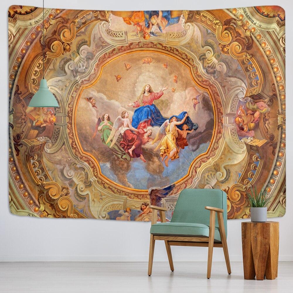 Настенная подвеска с Христом гобелен «Иисус», художественная Полиэстеровая ткань, коттедж, общежитие, настенное искусство, украшение для д...