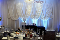 10ft x 20ft Luxury Pure White Wedding Backdrop Stage Curtain with Fabric draps for wedding baby shower party decortaions