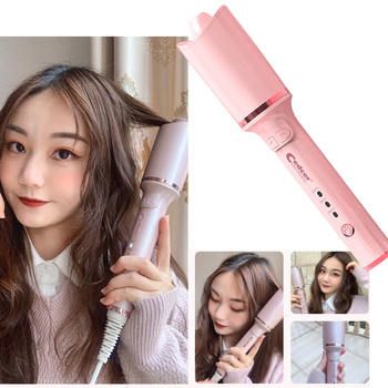 Rose Tube Automatic Curling Iron Rotating Air Spin Curler Styling Tool Curler EU Hairstyle Salon DIY Hair Styling Tool image