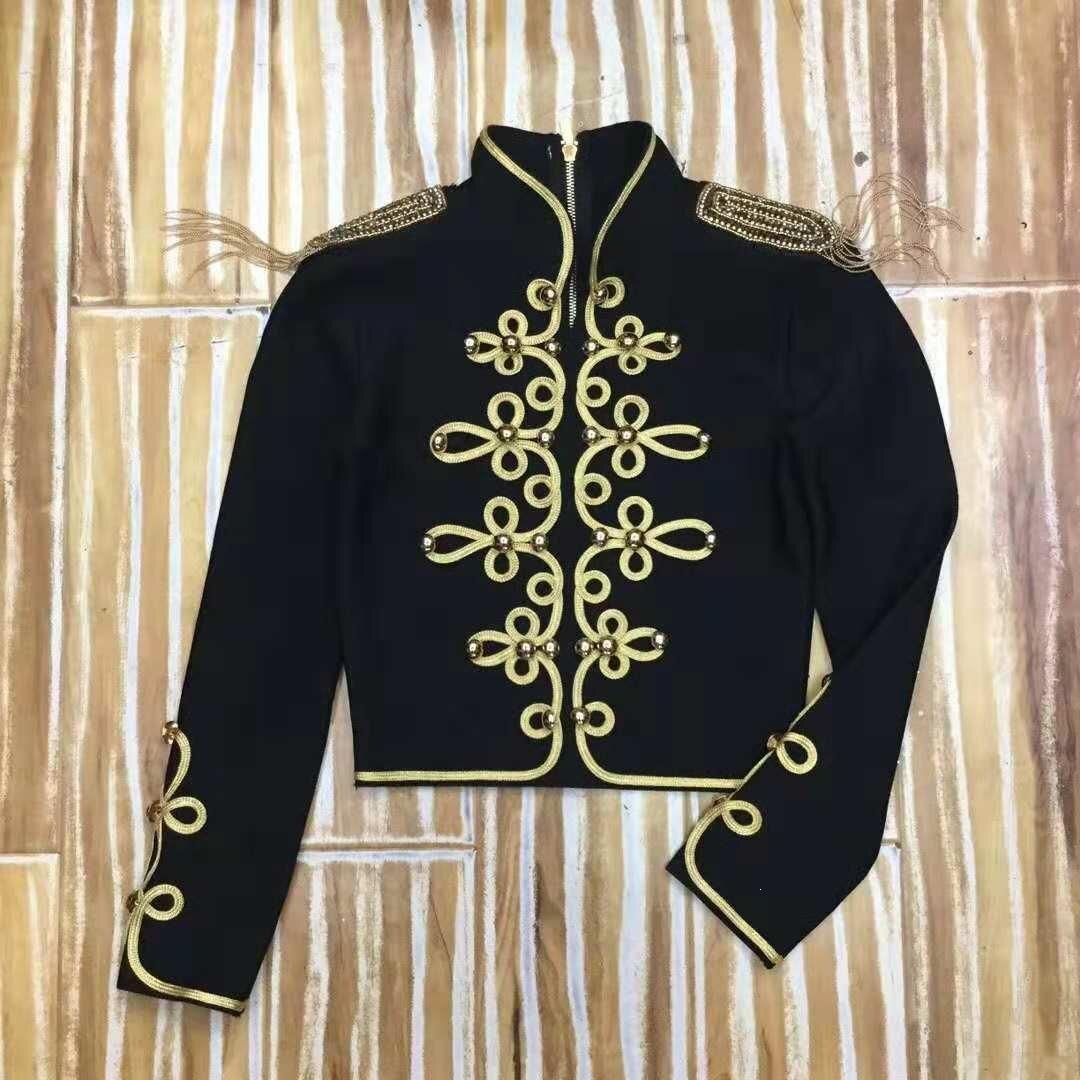 Chaqueta corta Retro mujer ropa Empire 2019 Otoño Invierno Lady Jacket Coat - 3