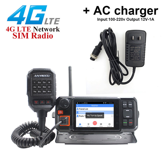 ANYSECU 4G W2Plus Unlock 4G Network Radio Android7.0 WCDMA GSM Walkie Talkie with WIFI N60 work with Real ptt Zello + AC charger