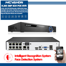 H.265 H.264 4/8CH POE NVR Security IP Camera video Surveillance CCTV System P2P ONVIF 5MP Network Video Recorder Face Detection
