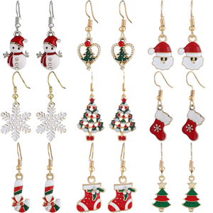 Christmas Earrings for Women Merry Christmas Decorations for Home Navidad 2020 Christmas Ornaments Xmas Gift Happy New Year 2021