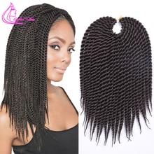 Рафинированные волосы 22 дюйма 0,8 см диаматор ручной работы крючком косы Сенегальские накрученные волосы накладные волосы Омбре цветные косички 22 пряди/шт