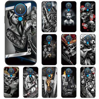 Szkielet Etui na telefon Nokia 1 4 8 3 5G Case Funny Skull wydrukowano Etui na Nokia 7 1 Plus 9 7 5 4 5 1 4 2 3 4 3 2 2 1 okładka Etui tanie i dobre opinie CN (pochodzenie) Częściowo przysłonięte etui Soft Silicone Case For Nokia 7 3 9 7 1 Plus Cover Housing Bag Shell przezroczyste