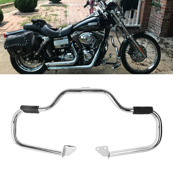 """Chrome 1 1/4"""" Mustache Engine Guard Protector Crash Bars Highway For 2006-2017 Harley Dyna FXDB FXDC FXDF FXDL FXDWG"""