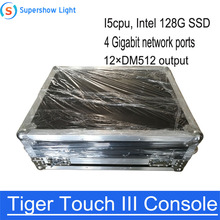 Tiger Touch III Controller Stage Lighting Console With Flightcase I5 CPU cheap BCL YAN Stage Lighting Effect DMX Stage Light TTC-03 90-240V Professional Stage DJ