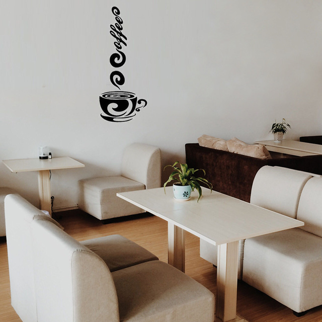 Kreatywny kubek do kawy kubek naklejki ścienne do kawiarni kawiarnia naklejki na drzwi salon naklejki kuchenne wodoodporne zdejmowane pcv