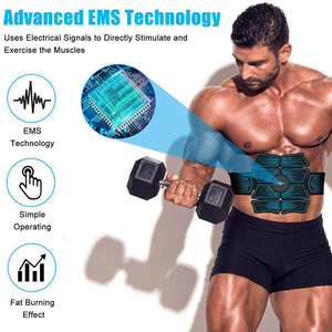 Image 2 - Abdominal Muscle Stimulator EMS Abs Electrostimulation Home Gym  Trainer Muscles Toner Exercise Fitness Equipment USB Charged