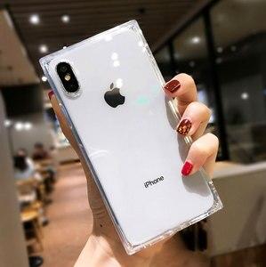 Image 4 - 4 Gasbag açılan geçirmez yumuşak iphone için kılıf xs MAX XR X 10 7 8 artı 6 6s temizle TPU silikon şeker Anti vuruş telefon kapak