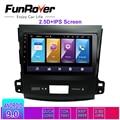 Funrover 2.5D + ips android 9 0 автомобильный мультимедийный плеер Навигация dvd для Mitsubishi Outlander 2006-2014 peugeot 4007/Citroen gps