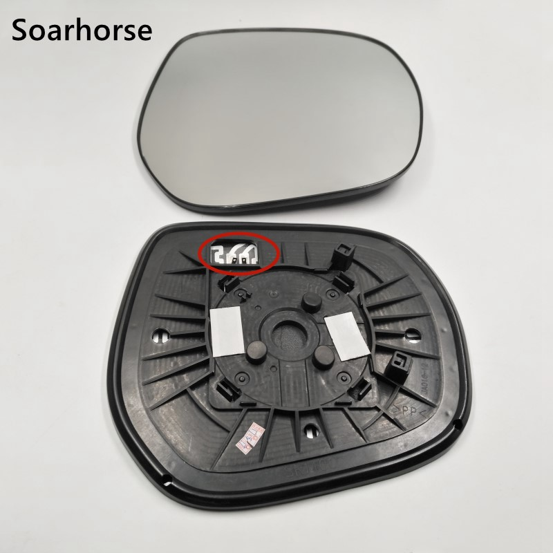 Soarhorse Rear View Mirror Glass For <font><b>Toyota</b></font> Land Cruiser <font><b>Prado</b></font> 150 Series 2009-<font><b>2016</b></font> <font><b>Accessories</b></font> With Heated Function image