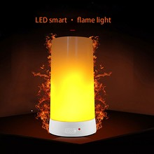 LED Flame Effect Light USB Charging Magnetic Candle Light Suitable for Family Christmas Restaurant Hotel Bar Cafe Party Portable