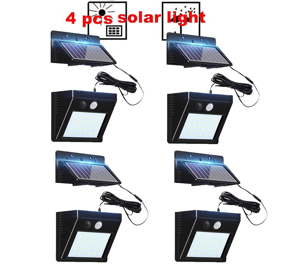 2/4pcs 100/56/30 LED 3 Modes Garden Solar LED Lights Outdoor Solar Lamp Motion Sensor 270 Degree Waterproof IP65 Solar Security
