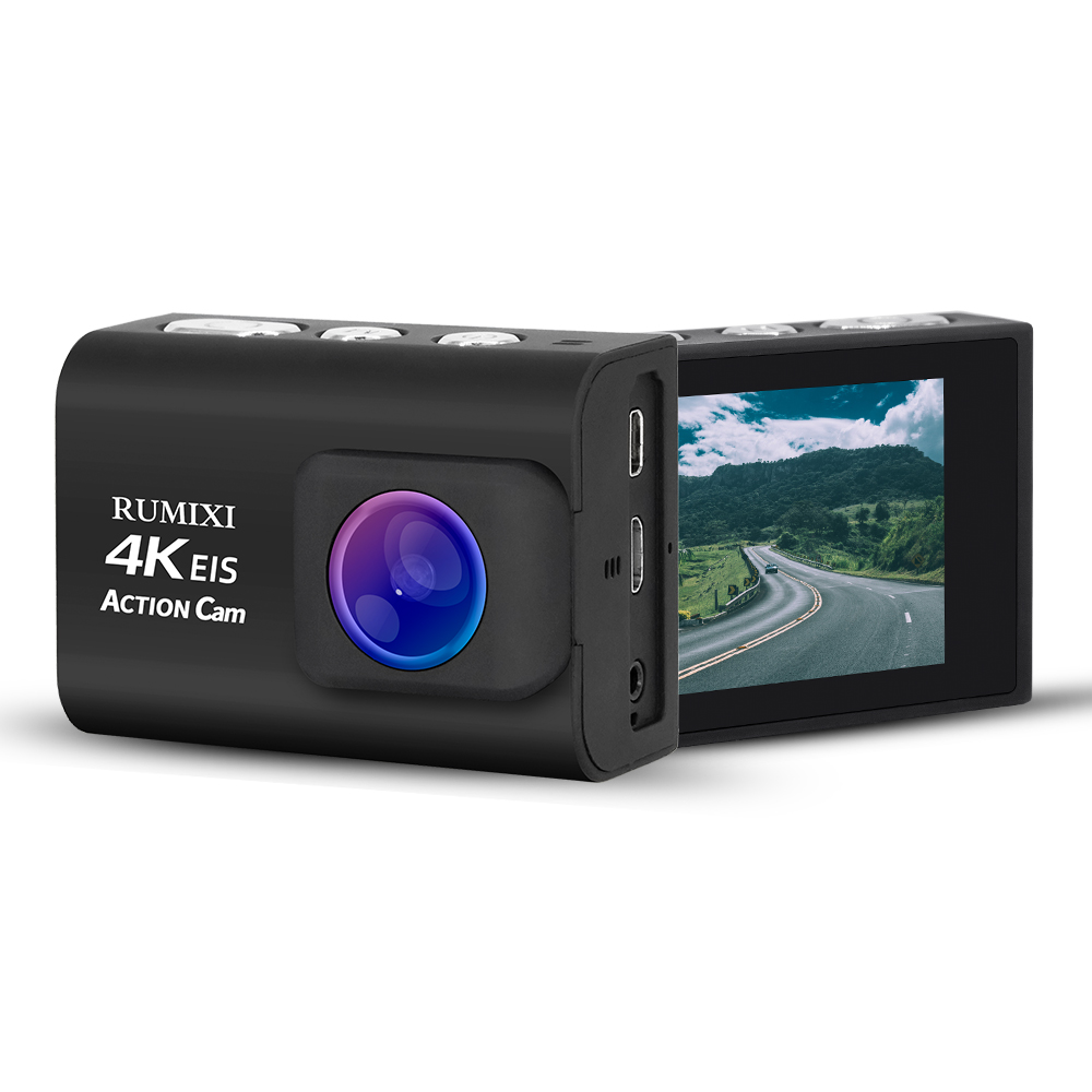 Ultra 4K Sports Action Camera With EIS Function Remote Controller Underwater Waterproof 30M Video Record Cam With Accessories