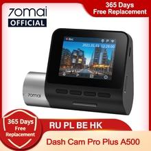 70mai A500 kamera na deskę rozdzielczą Pro Plus 1944P wbudowana GPS ADAS kamera samochodowa kamera na deskę rozdzielczą era podwójna kamera widokowa 70mai Plus A500S wideorejestrator samochodowy 24H Monitor do parkowania