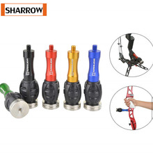 1Pc Archery  Bow Stabilizer Weight Ball Riser Balance Bar Absorption Shock Absorbing Rod Shock Compound Bow Shooting Accessory 1pc archery bow stabilizer shock absorbing weight ball damping bow riser handle balance bar silencer outdoor shooting accessory