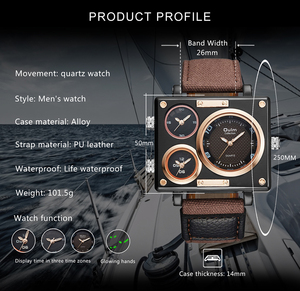 Image 3 - OULM שעון גברים למעלה מותג יוקרה קוורץ שעון יצירתי מזדמן ספורט שעונים ניילון רצועת זכר שעוני יד עמיד למים הנמכר ביותר