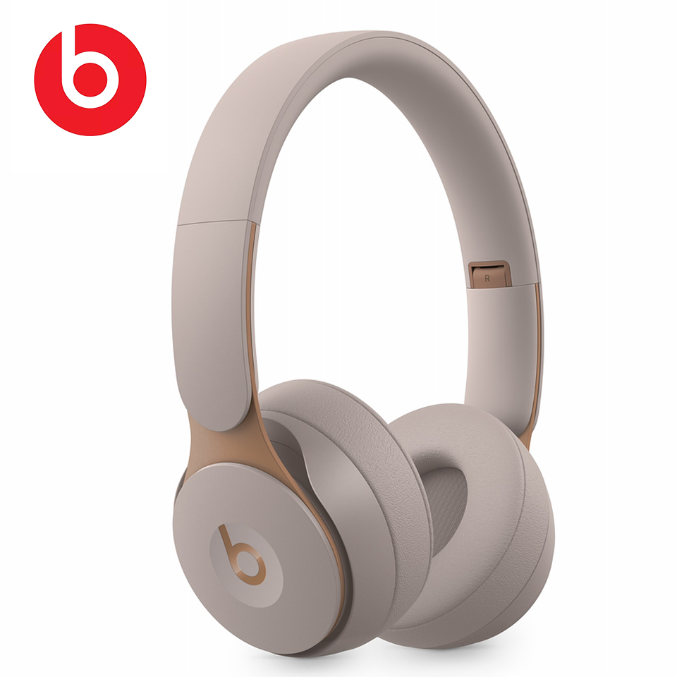 Beats Solo Pro Wireless Bluetooth ANC Headphones Portable Gaming Sport Noise Cancelling Headset Foldable Earphone Handsfree Mic image