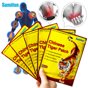 Sumifun 8Pcs Original Chinese Tiger Balm Pain Relief Patch Plaster Heat Medical K05301