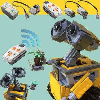цена на New Motorized RC Power Robot WALL E Idea Technic Figures Model Building Block Bricks Diy Boy Toy Gift Kid Birthday 16003 21303