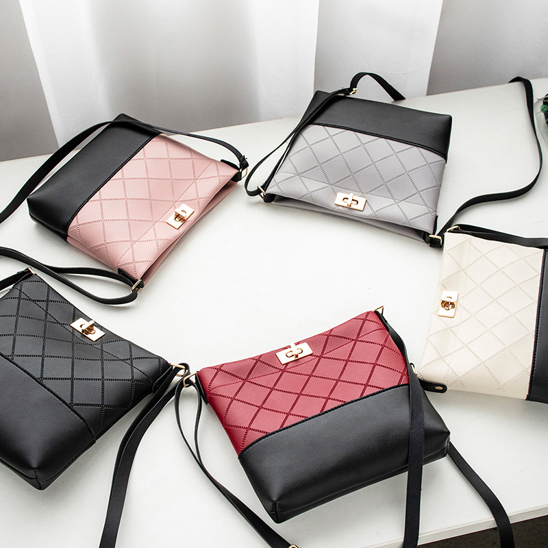 Image 5 - 2019 Diamond Lattice Plaid Bag Mini Hasp Handbag Cross body Bags 