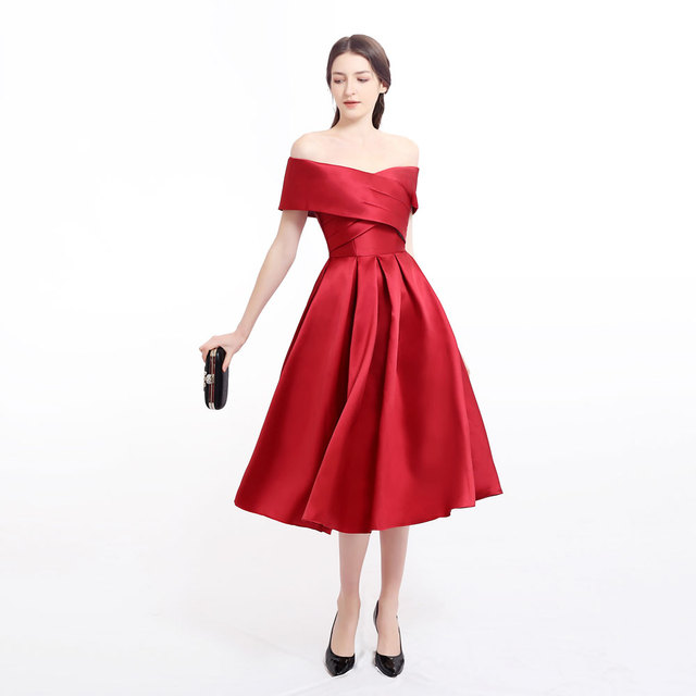 Plus size prom party evening dresses vestido de noiva sereia gown boat neck robe de soiree prom party satin pleat dress soirée 4