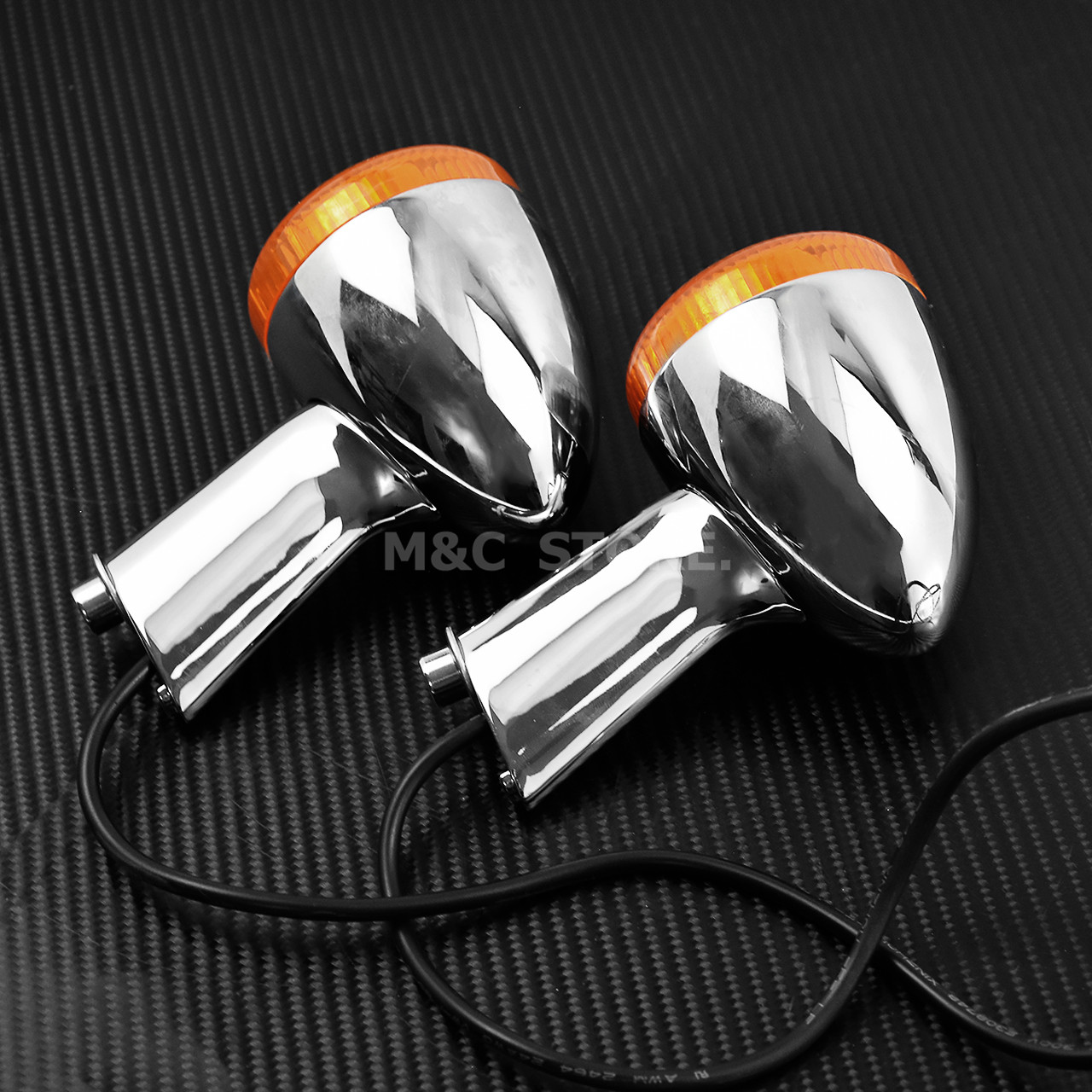 cheapest 1Pair Motorcycle Led Turn Signals Kit for Harley Road Glide Touring Sportster with 1156 1157 Base White Amber Led Turn Signal