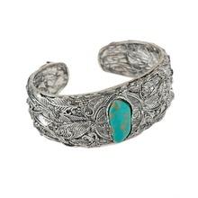 Vintage Natural Open Bangle Bracelet For Women Charm Butterfly Bracelet Men Cuff Silver Bracelet Ethnic Jewelry Shellhard