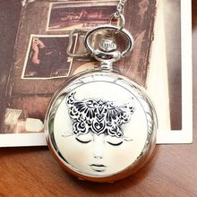 Retro Style Men and Women Pocket Watch Necklace Quartz Fashion Fantasy Girl Ceramics Children Reloj Mujer