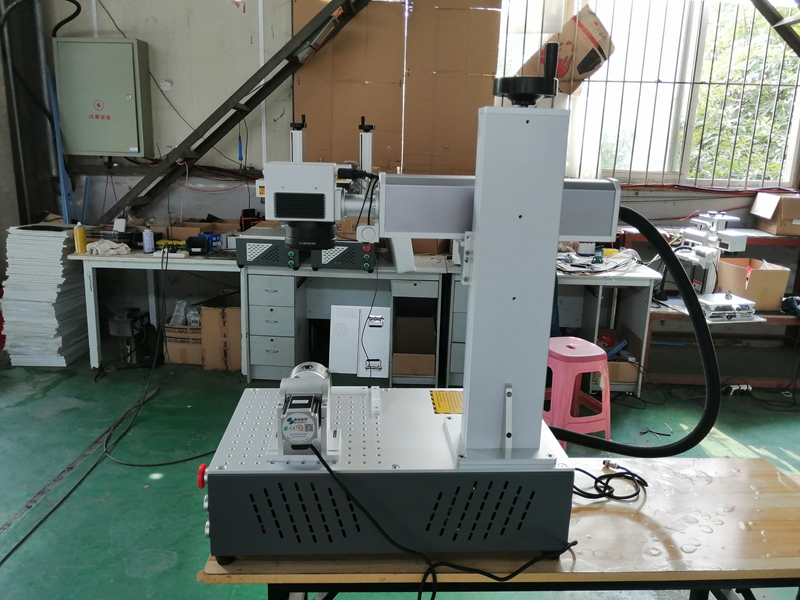 Laser Fiber 50W Laser Fiber Metal Engraving Workspace Option 110 110 200 200mm for metal and plastic marking in Wood Routers from Tools