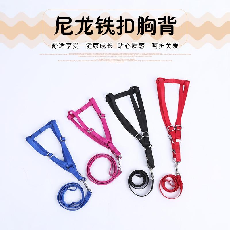 Nylon Iron Button Chest And Back Hawo Dog Medium Large Dog Hand Holding Rope Dog With Thick Iron Button Chest And Back Traction