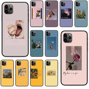 Чехол для iphone 4 4s 5 5S SE 5C 6 6S 7 8 plus X XS XR 11 PRO MAX 2020 Черный Водонепроницаемый Модный чехол