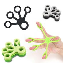 3 pcs silicon hand finger gripper trainer strength stretcher resistance exercise bands grip wrist yoga forearm rock climbing 1Pcs Silicone Finger Gripper Strength Trainer Outdoor Slim Fitness Tools Resistance Band Hand Grip Wrist Flexible Exercise Acces