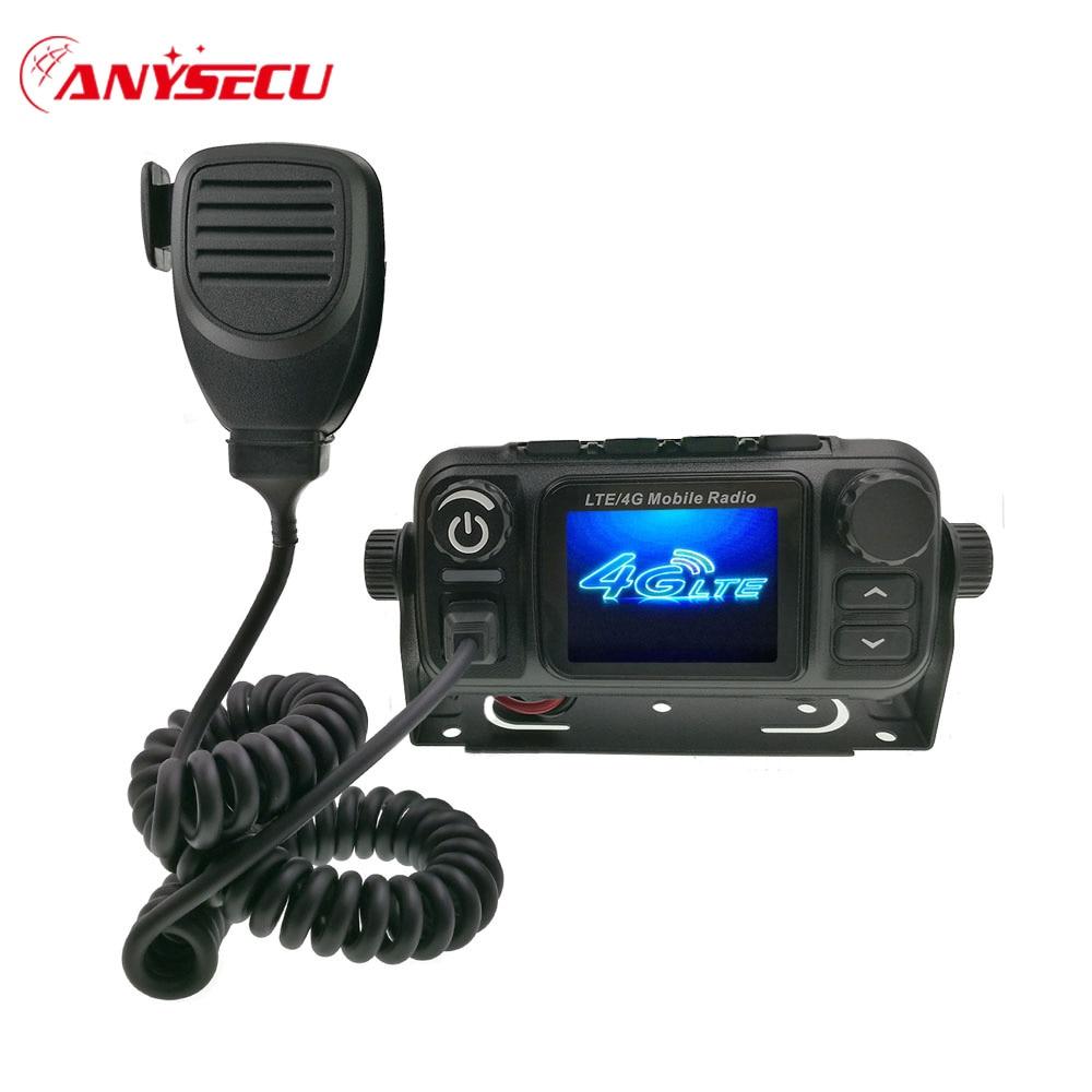 Anyzecu Network Radio 3G 4G LTE POC Public Mobile Radio Station  GPS M-7700 Walkie Talkie Only Work With Real PTT Platform
