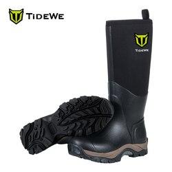 TideWe czarne wytrzymałe 6mm neoprenowe wodoodporne buty Muck wielofunkcyjne buty przeciwdeszczowe