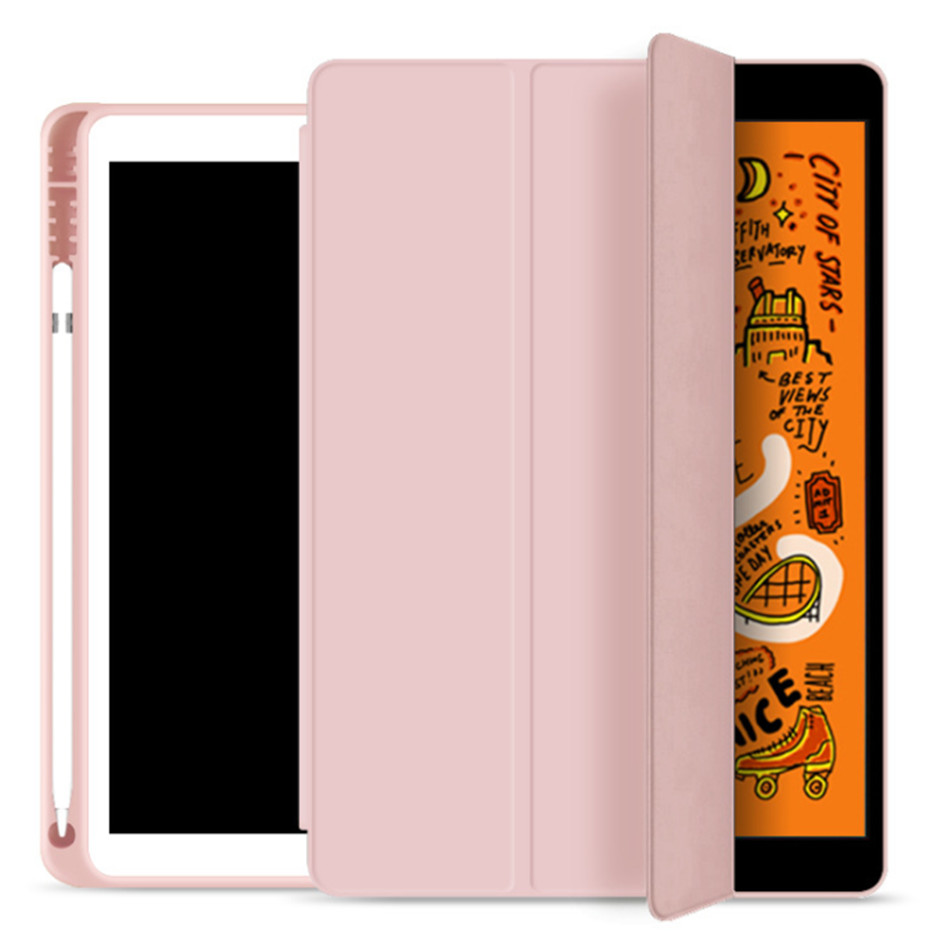 iPad 7 7th pink Champagne For iPad 10 2 7th Generation Case with Pencil Holder for iPad 2019 10 2 Slim