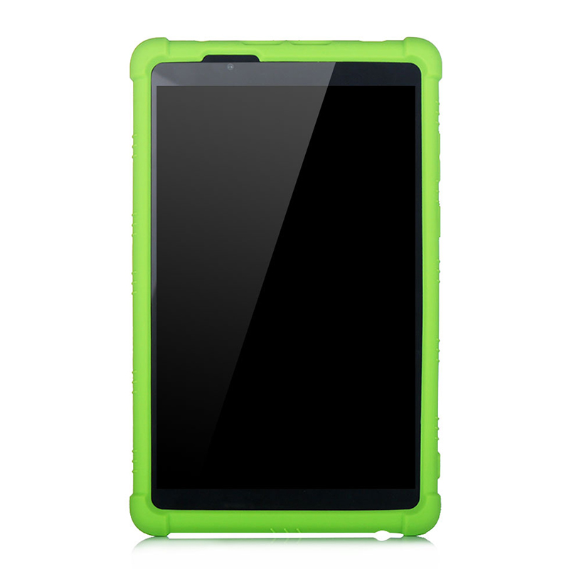 Rugged Silicone Cover For <font><b>Lenovo</b></font> Tab E8 <font><b>TB</b></font>-8304F <font><b>TB</b></font>-<font><b>8304F1</b></font> Tablet Drop Protection Non-Slip Built-in Stand Design Case image