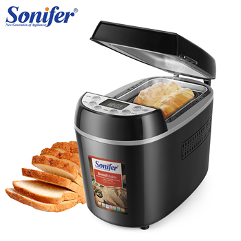 1.3kg Automatic Bread Machine 870w Programmable Bread Maker 15-hour Pre-set Timer Control Panel With Lcd Display Sonifer