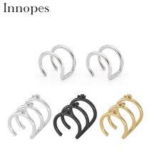 Innopes Clip en el pendiente de la envoltura Tragus anillo de acero inoxidable oreja Clip anillo de la nariz falso Piercing joyería del cuerpo