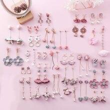 20 видов стилей Корейская Милая ткань розовый цветок жемчуг