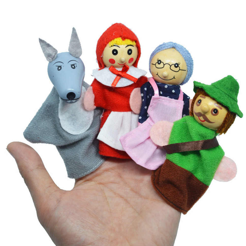 Puppets Dolls props children Toys for children game gift animal baby monkey dog characters finger Puppets soft theater show boys